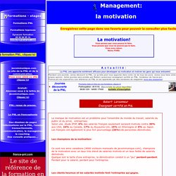 Management: la motivation