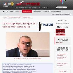 Le management éthique des firmes multinationales