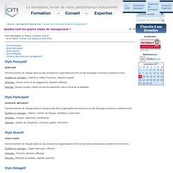 Management Opérationnel - Quelles sont les quatre styles de management ?