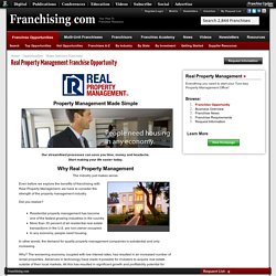 Real Property Management Franchise Opportunity