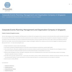 Corporate Events Planning, Management and Organisation Company in Singapore - Knowles Training Institute