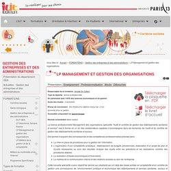 LP Management et gestion des organisations - IUT de Bobigny