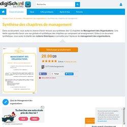Résumé Management des Organisations - révisions cours et chapitres Bac STMG