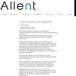 Allent > Cabinet de conseil en stratégie & management des organisations - Notre équipe