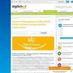 Réviser le management au Bac STMG - Fiches révisions management des organisations