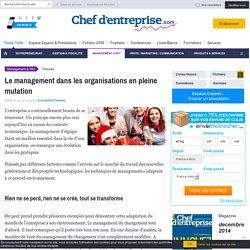 Le management dans les organisations en pleine mutation