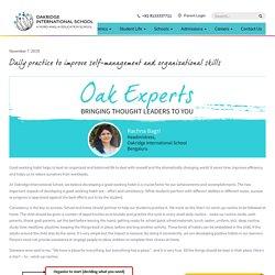 Daily practice to improve self-management and organizational skills - Oakridge