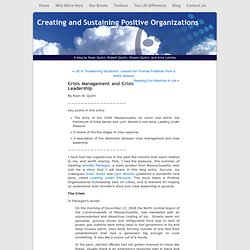 Creating and Sustaining Positive Organizations