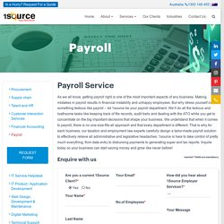 Payroll Management Outsourcing