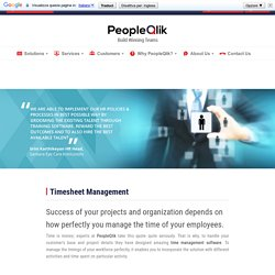 Timesheet Management Software - HR Software
