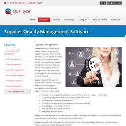 Supplier Quality Management Software Systems