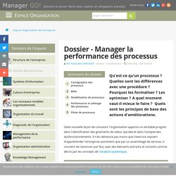 Management de processus - optimiser la performance