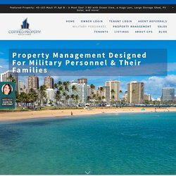Property management For Military Personnel, the Armed Forces, and Veterans, Certified Property Solutions