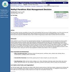 EPA 02/08/99 Methyl Parathion Risk Management Decision