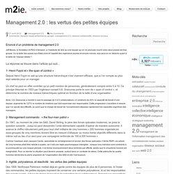 Management 2.0 : les vertus des petites équipes