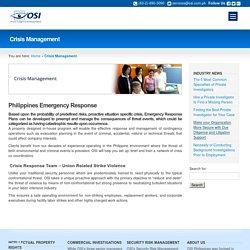 Crisis Management Philippines