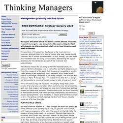 Management planning and the future