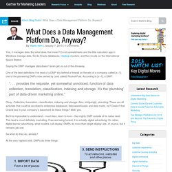 What Does a Data Management Platform Do, Anyway? - Martin Kihn