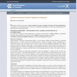 La Chaire Management de l'Innovation - Ecole polytechnique