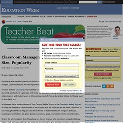 Classroom Management Website Soars in Size, Popularity - Teacher Beat