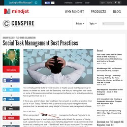 Social Task Management Best Practices