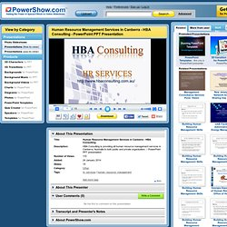 Human Resource Management Services in Canberra - HBA Consulting PowerPoint presentation
