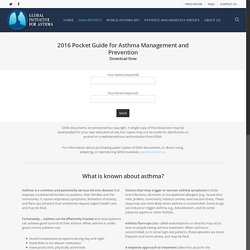 (*NEW) 2016 Pocket Guide for Asthma Management and Prevention - Global Initiative for Asthma - GINA
