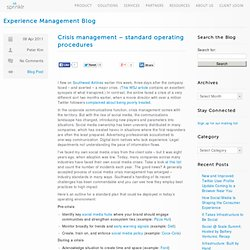 Crisis management – standard operating procedures « Dachis Group Collaboratory