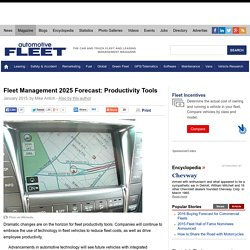 Fleet Management 2025 Forecast: Productivity Tools - Article - Automotive Fleet