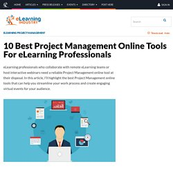10 Best Project Management Online Tools For eLearning Professionals