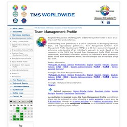 Team Management Profile - Team Management Systems (TMS) worldwide