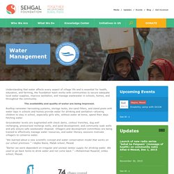 Water Management programs in India