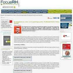 Le management au « sens » de la psychologie positive. Par Michaël Pichat et Coline Delavelle