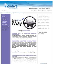 Intuitive Solutions Group - Content Management Systems, Dynamic Publishing and Web-to-Print Solutions > Products > Press-sense iWay - Web-to-Print Solution