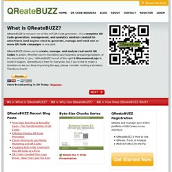 QR Code Generator, Management, & Analytics | QReateBUZZ