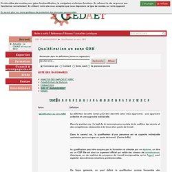 Document 4 : Qualification