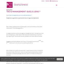 Tao & Management: quels liens ?