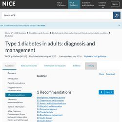 Essential Reading: Type 1 diabetes in adults: diagnosis and management