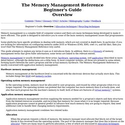 The Memory Management Reference: Beginner's Guide: Overview