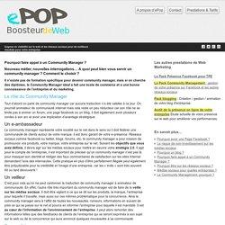 ePop Agence community management e-réputation et référencement
