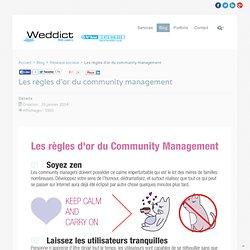 Les règles d'or du community management - Weddict : agence web & référencement