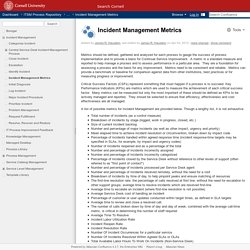 Incident Management Metrics - ITSM Process Repository