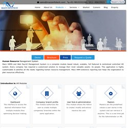 Human Resource Management System - Maco Infotech Ltd
