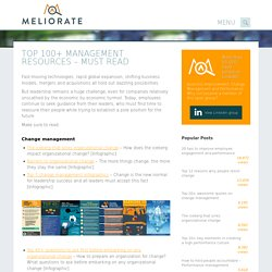 Top 100+ management resources - Must read