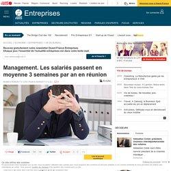 Management. Les salariés passent en moyenne 3 semaines par an en réunion