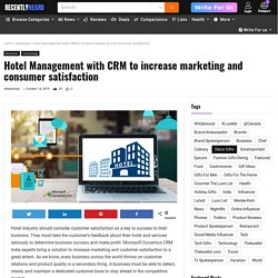 Why implementing CRM for Success the Hotels Business?