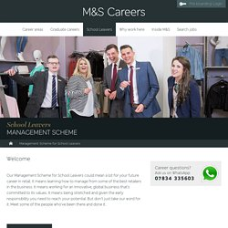 M & S Management Scheme for School Leavers
