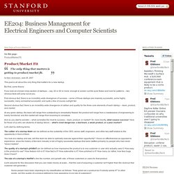 EE204 Business Management for Engineers and Computer Scientists