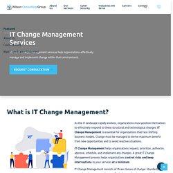 IT Change Management Services