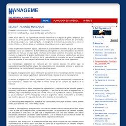Management: SEGMENTACION DE MERCADOS